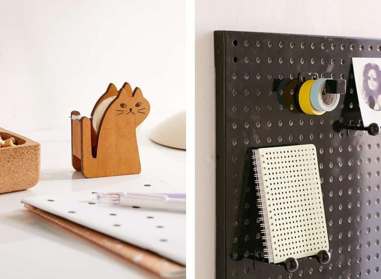 Pojemnik na taśmę  /  metalowa tablica z haczykami