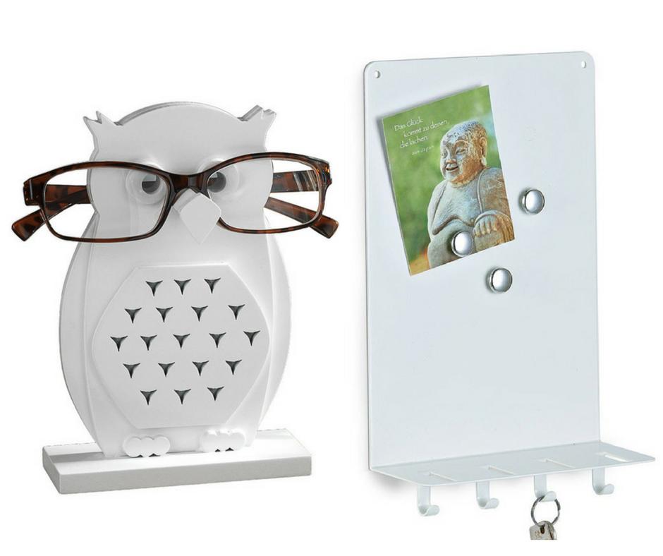 Stojak na okulary-sowa,   tablica magnetyczna-wieszak