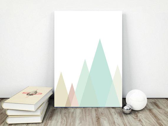 Plakat trójkąty-góry