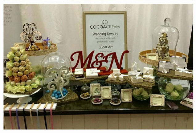 Cocoa Creams Stand at the Luxury Wedding Show.