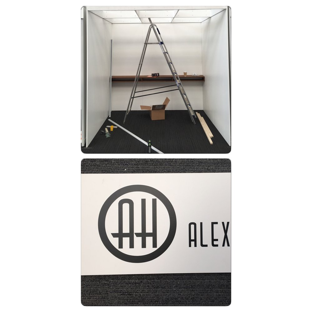 My Alexandria Hall Photography bespoke stand currently under construction