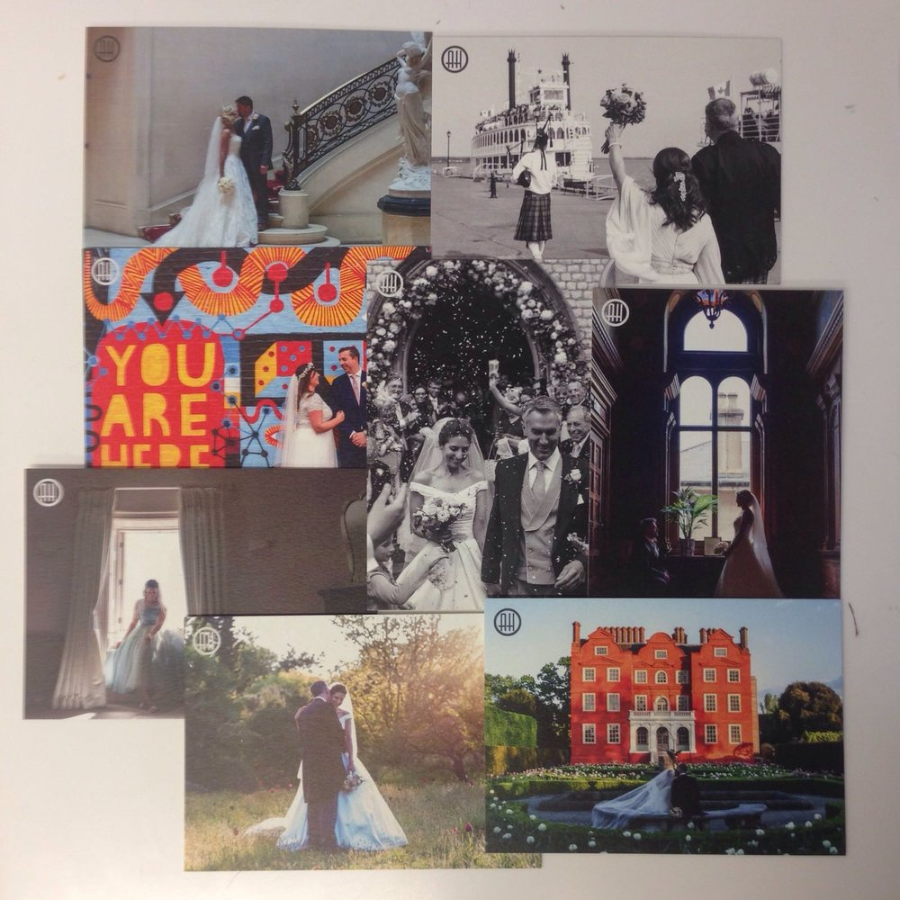 Just a few of my favourites weddings this year created into beautiful postcards by Sentio