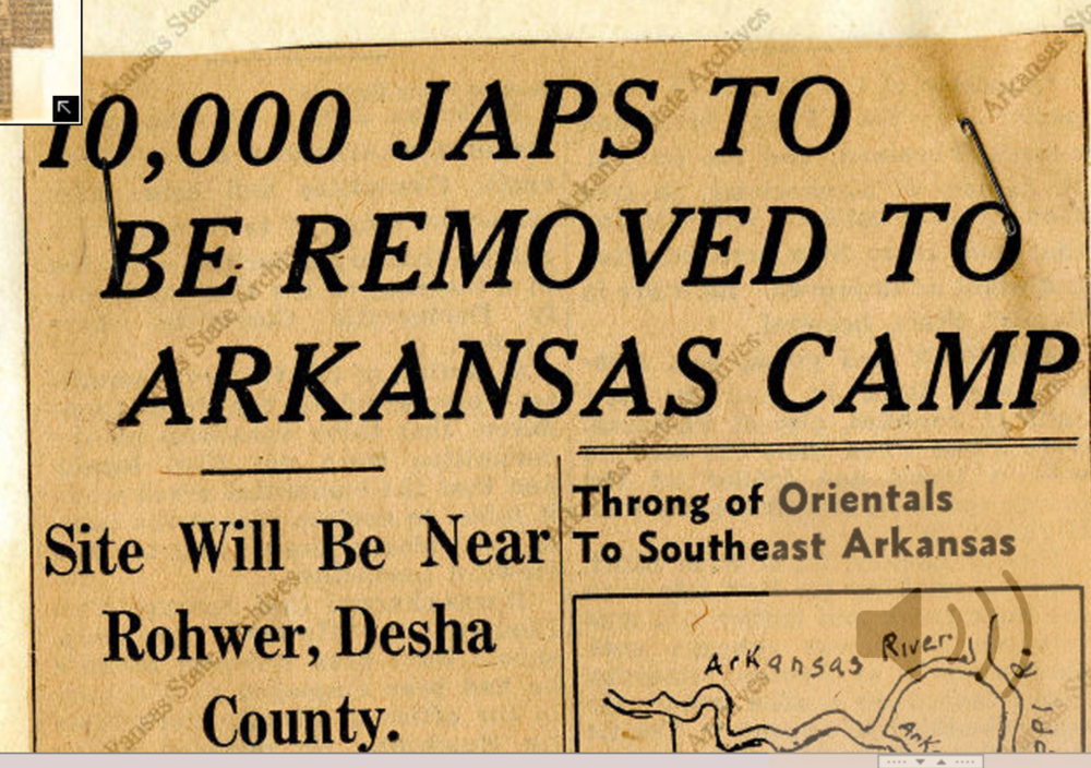 Courtesy of  Arkansas Gazette , June 3, 1942,  Arkansas State Archives