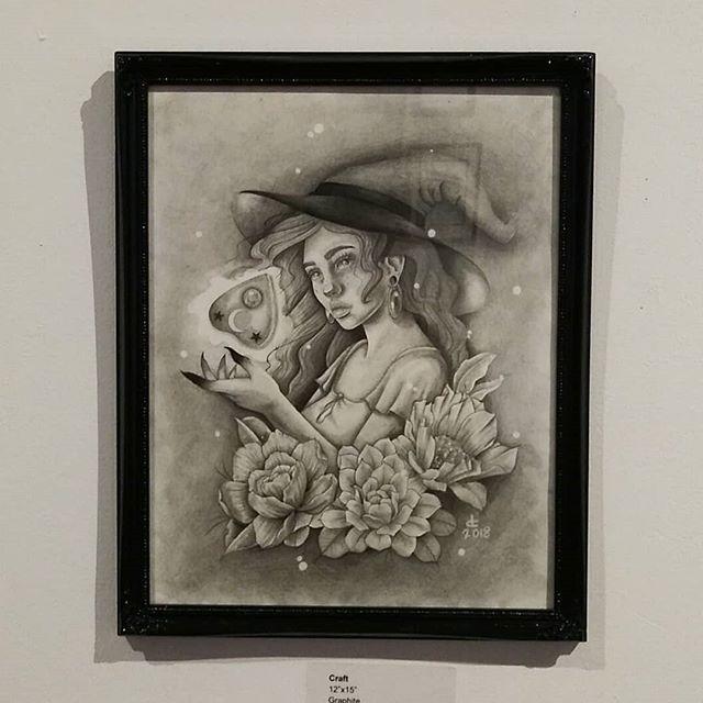 #soft #opening before #Halloween kicks off @trojanmonkartgallery New work from artist: @deztattoos  #artistsoninstagram #art #gallery #illustration #trojanmonkart #inktober #spiritual #bayarea #painting #eastbay #westcoast #halloween #pencil #October #vallejo #sf #abstract #artcollective #love #witch #socialmedia #insta #instagram #instalike #instago #freelance