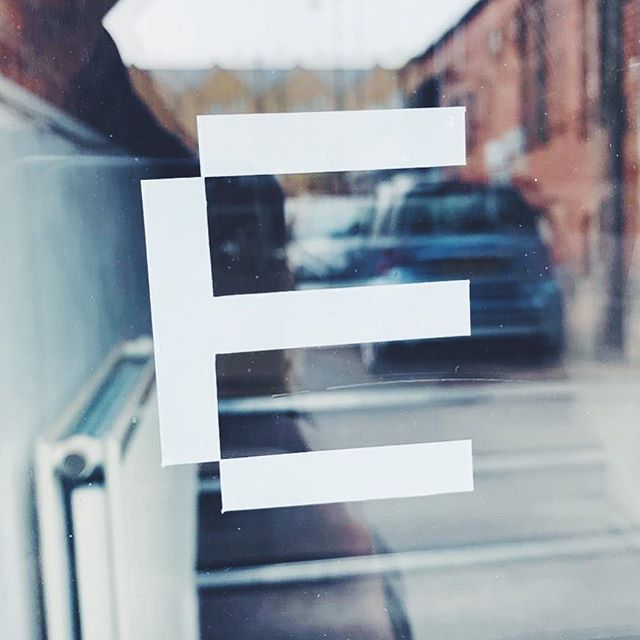 E #graphicdesign #elfenbranding #graphic #vinyl #window #cardiff