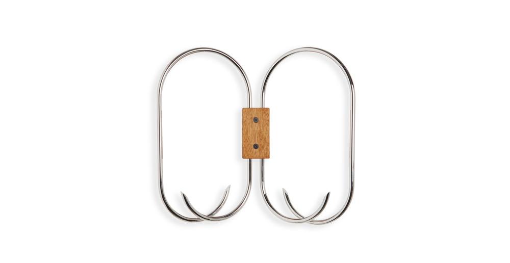 Jules Wabbes butterfly coat rack nickel-plated brass