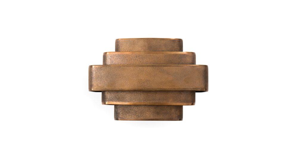 Jules Wabbes Small wall lamp raw bronze
