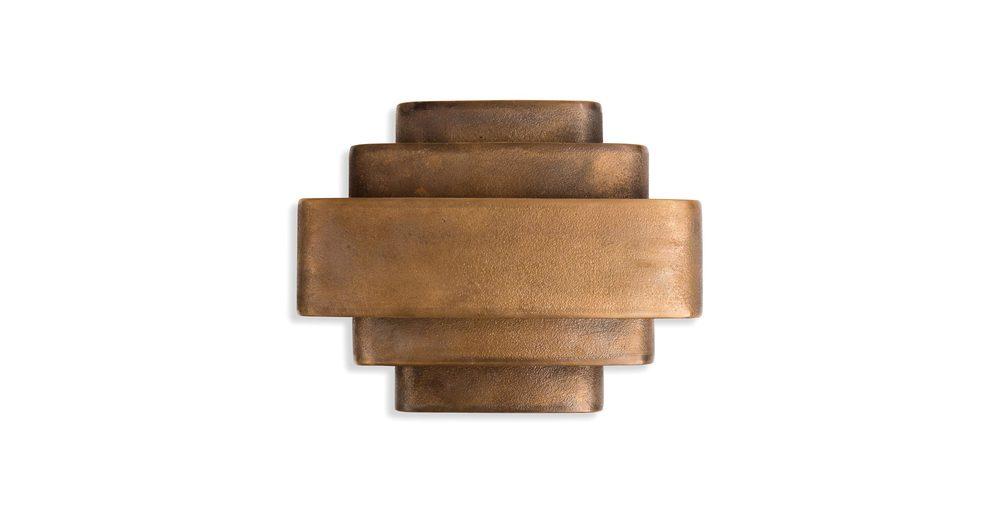 Jules Wabbes Large wall lamp raw bronze