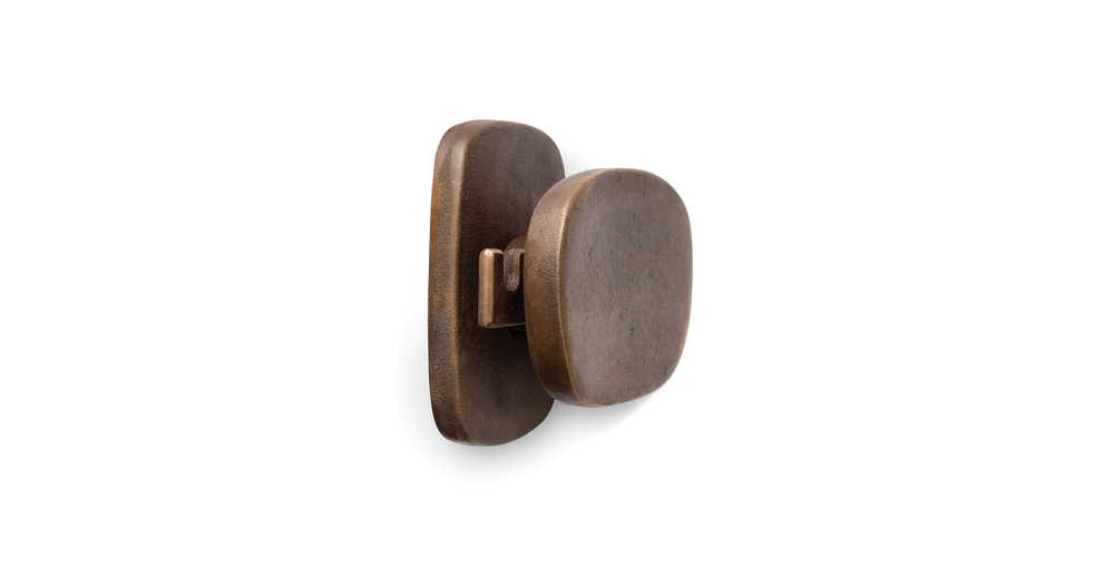 Jules Wabbes coat peg raw bronze