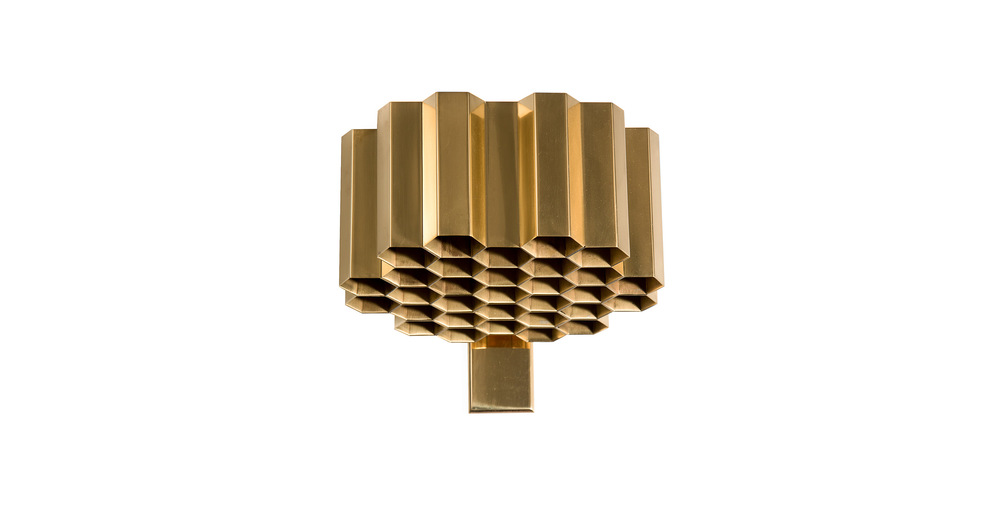 Jules Wabbes Honeycomb wall lamp polished brass