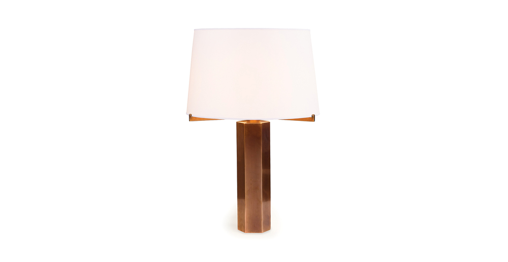 Jules Wabbes hexagonal table lamp