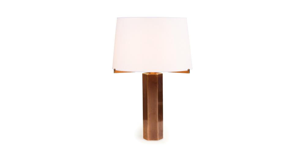 Jules Wabbes hexagonal table lamp