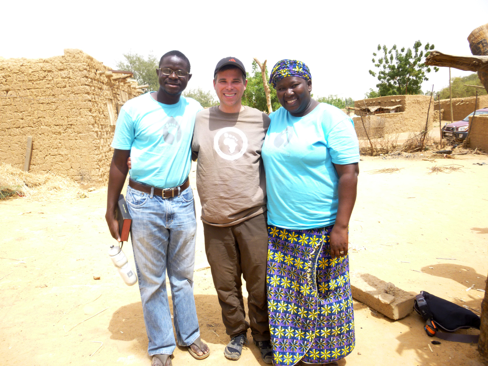 Cephas and Biba join me for a quick photo in the village of Latta.