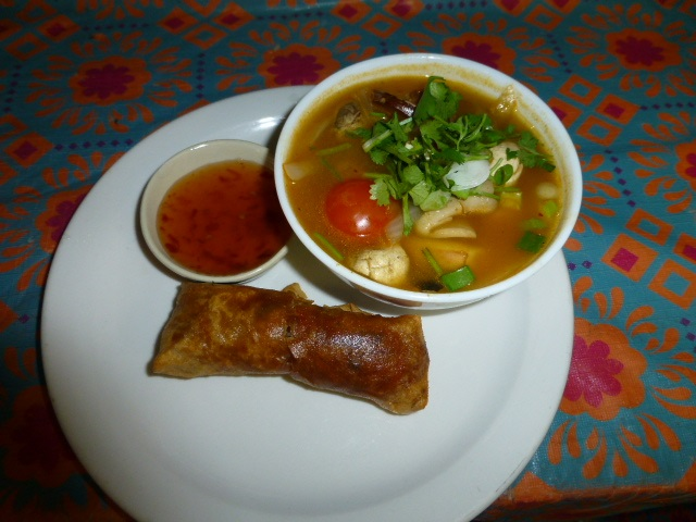 From our lunch menu only, our special add-on to entrees comprising of small bowl of soup and small appetizer for $3.