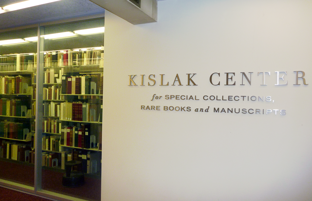 The Kislak Center for Special Collections, Rare Books and Manuscripts at the University of Pennsylvania.