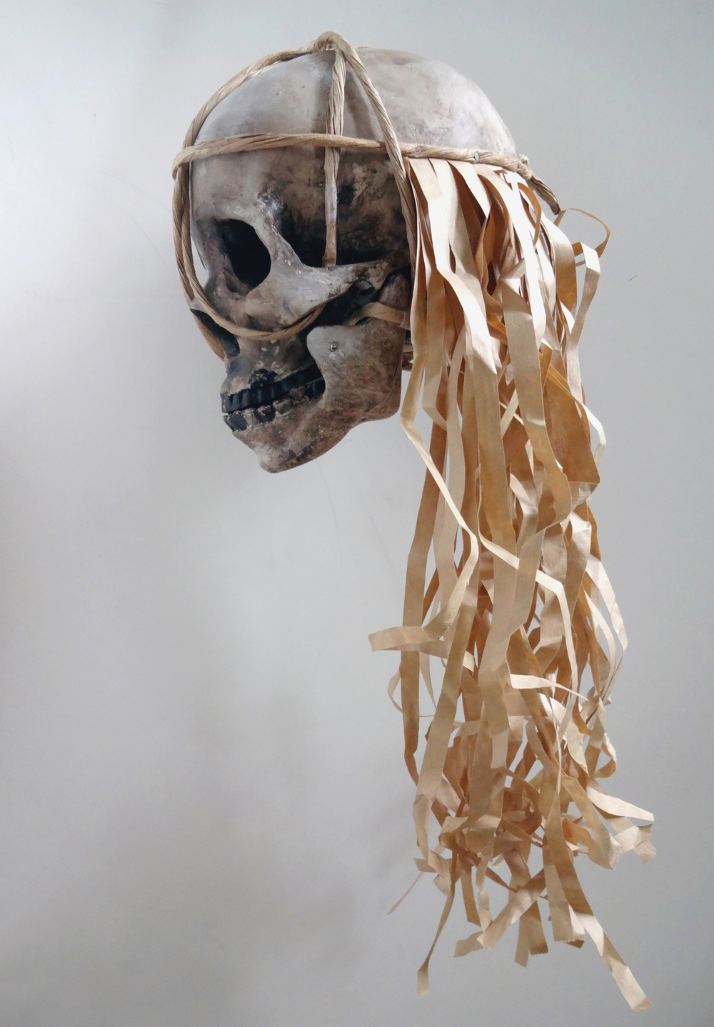 Skull for  Borneo Odyssey  performance made by Marti Cormand.