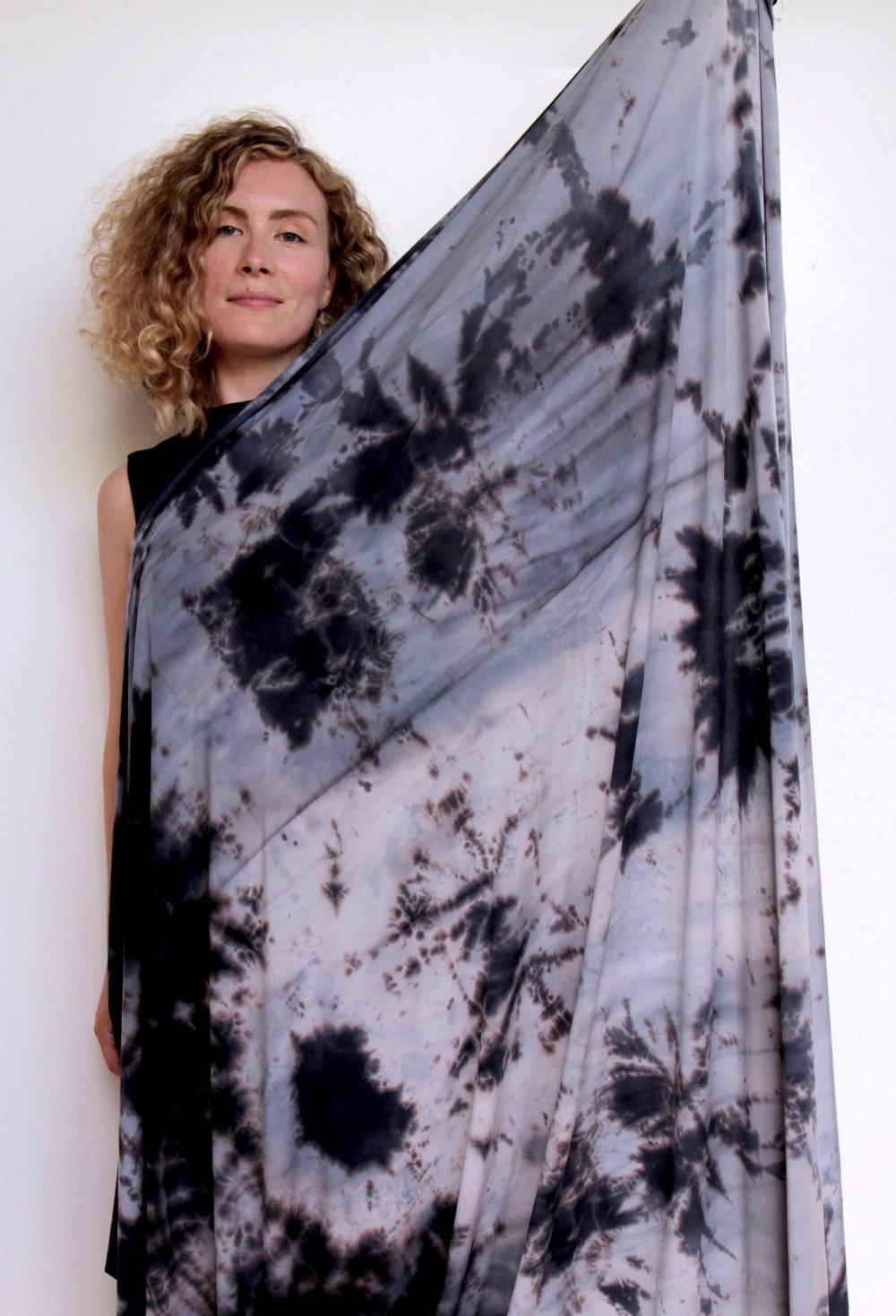 Navy Hand Dyed Savasana Blanket Scarf.jpeg