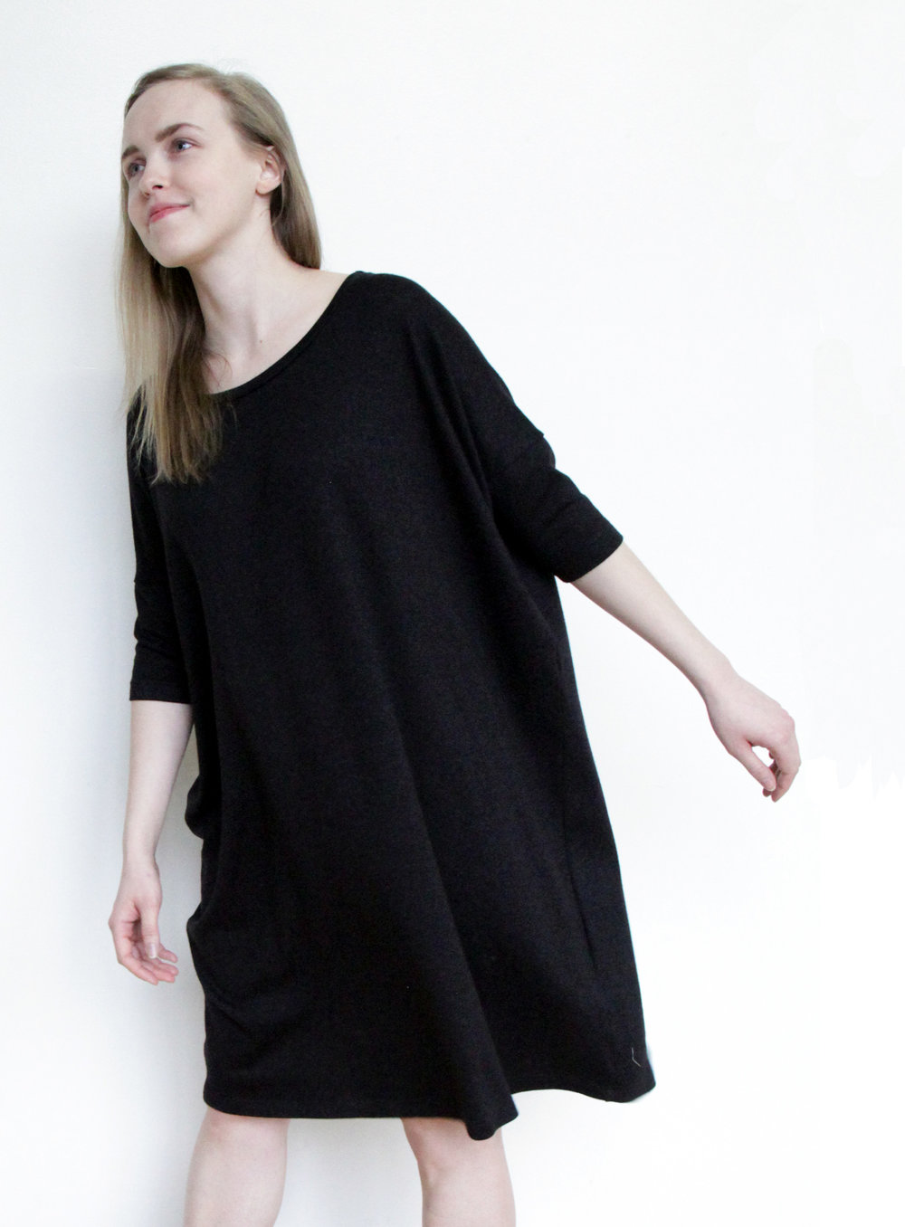 SY908 Sama Shift Dress - Black - FRONT CROP 1.jpg