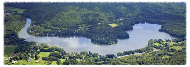 Arial view of Goodyear Lake