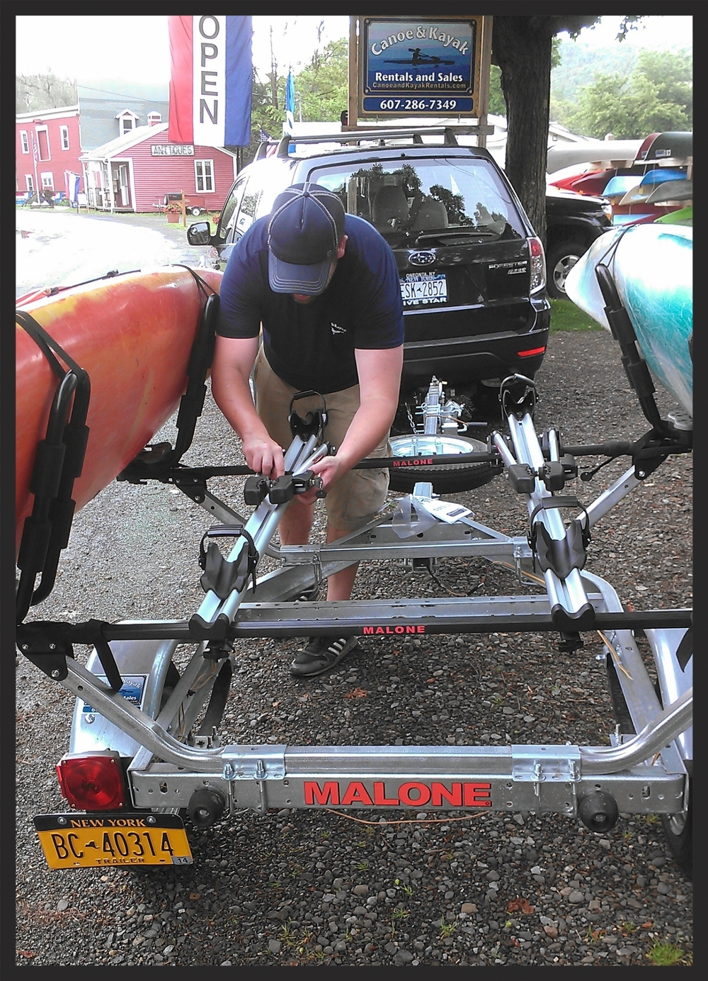 Installation of bike racks on a Malone trailer