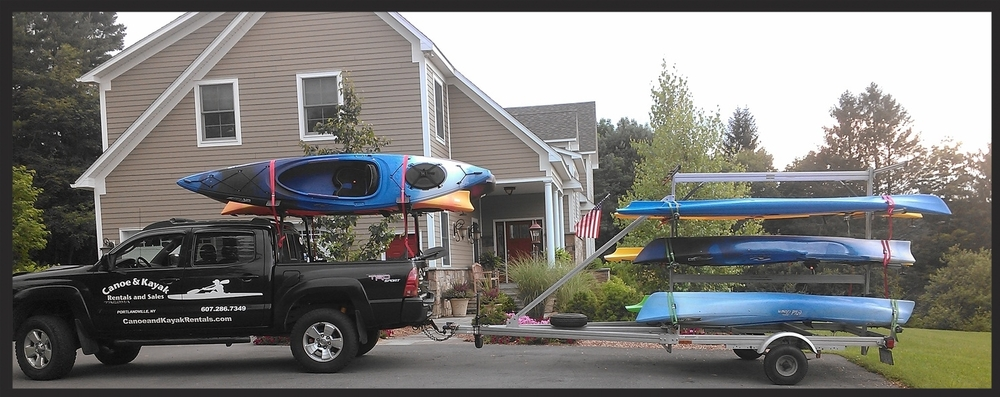 The Kayak truck en route to Delivery.