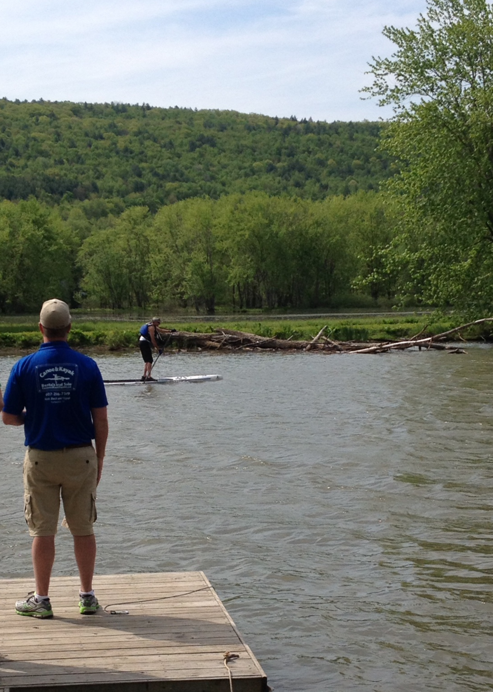 Brent witnessing paddleboard history in the      making. This gentleman was the first ever to     complete the 70 mile General Clinton Canoe      Regatta on a stand up paddelboard!