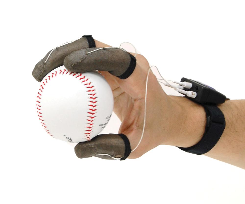 finger tactile pressure sensor holding baseball