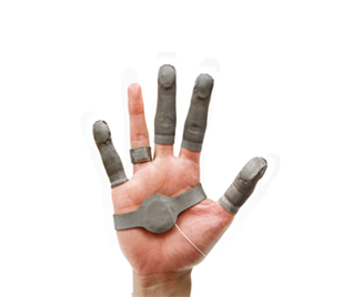 finger tactile pressure sensor palm view