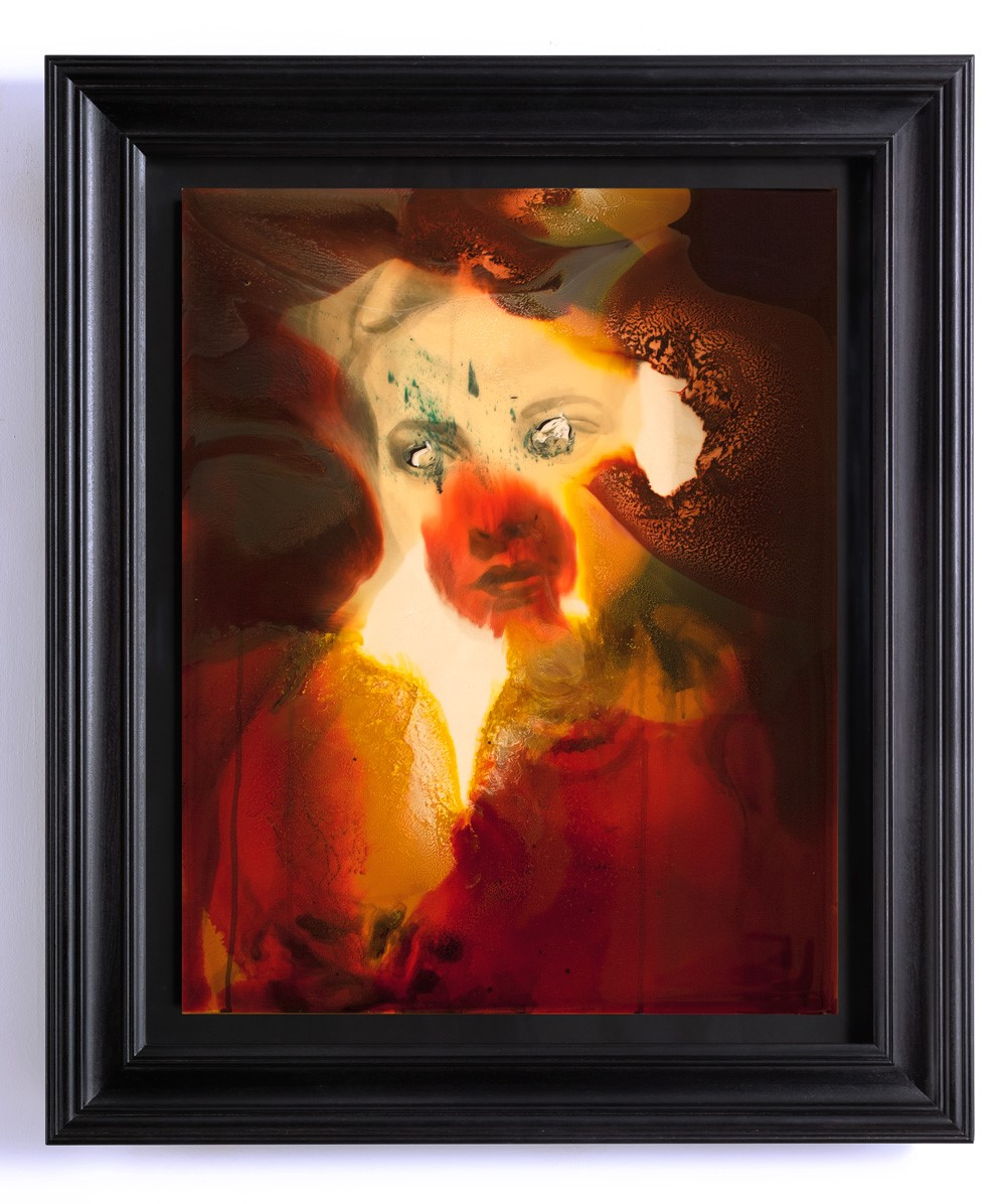 Unnatural Portrait, mixed media on aluminium, 84cm x 98cm, 2015