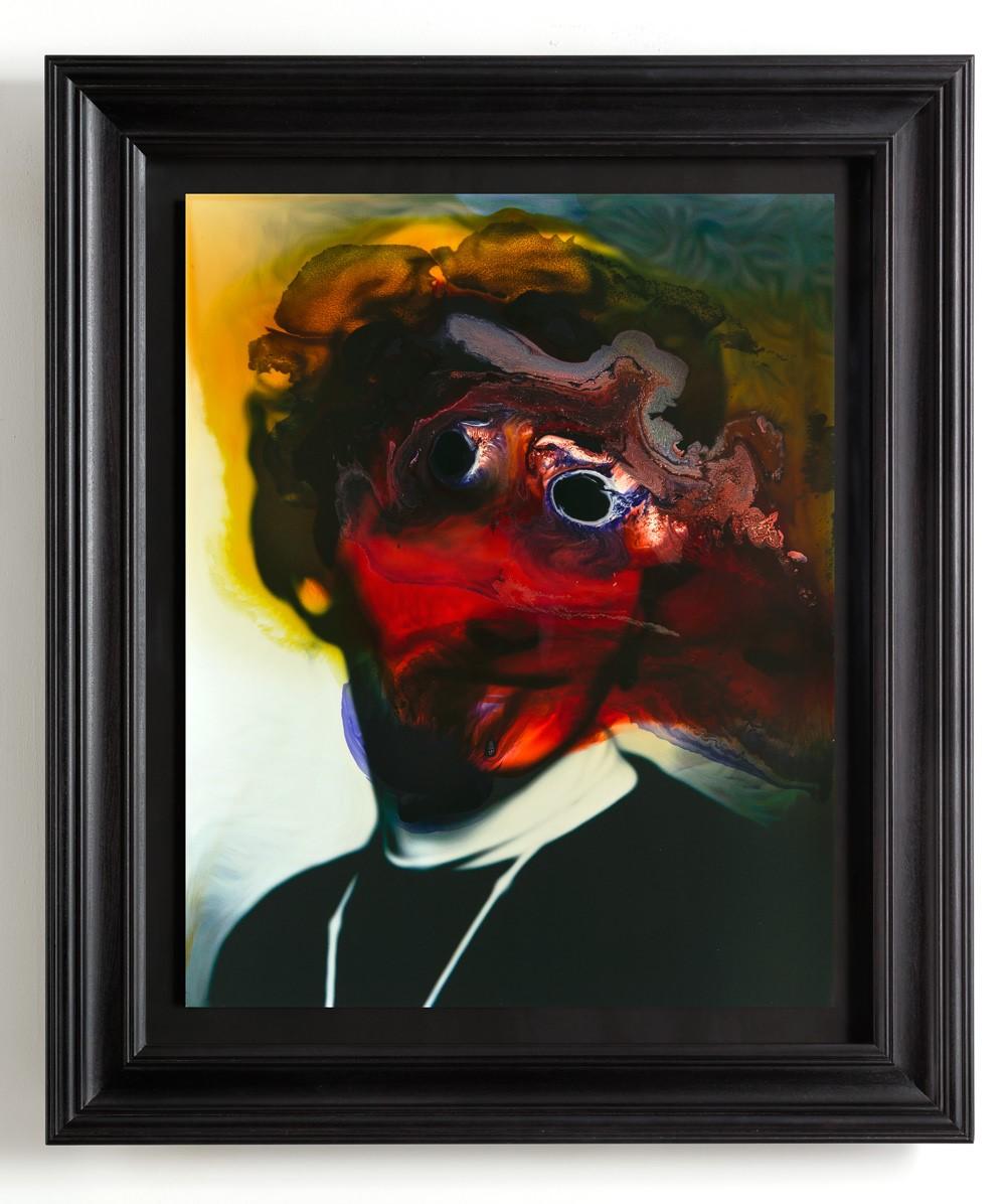 Unnatural Portrait, mixed media on aluminium, 84cm x 98cm, 2014