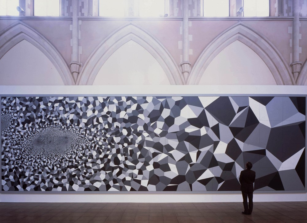 Nature (Window on an infinite Cellular Blanket (Part of the Seven Wonders of the World Series), Acrylic on aluminium panels, 420cm x 1320cm, 2001 - 2002