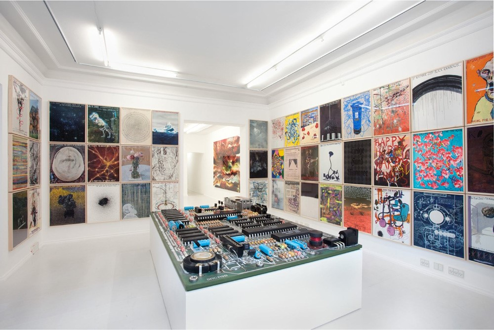 A Mystery to Myself ( Installation View David Risley Gallery), mixed media (sculpture of microchip), 2014