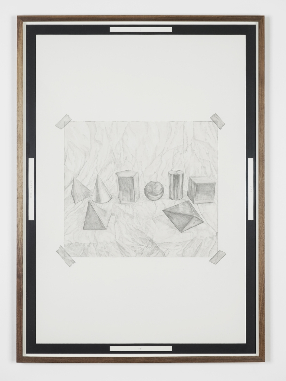 We are a Metaphor , 2014, pencil, ink and screen print on paper, 85 x 60 cm,images copyright the artist courtesy of Arcade, London