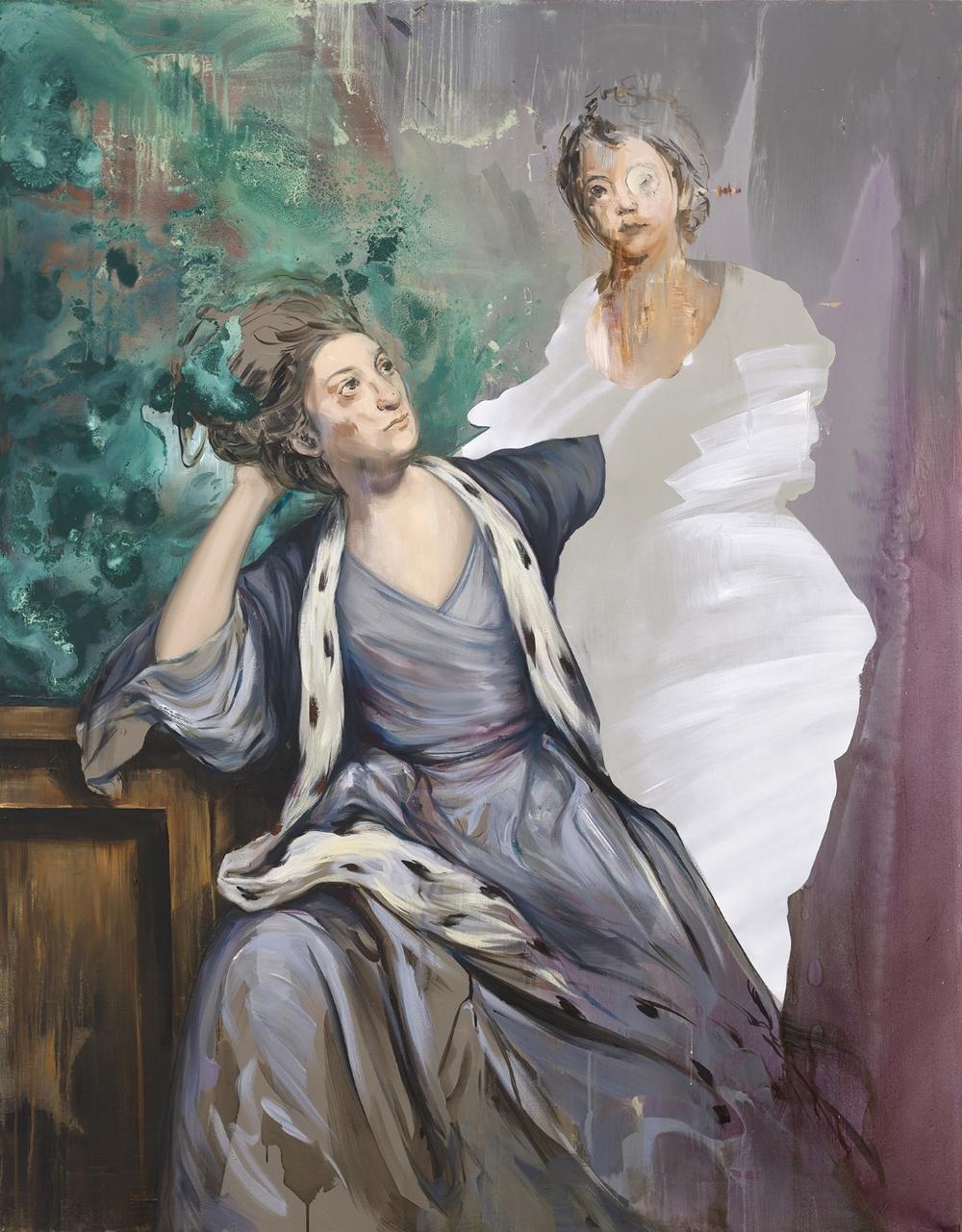 Ewa Juszkiewicz, Untitled (after Sir Joshua Reynolds), 2015, oil on canvas, 160в125 cm