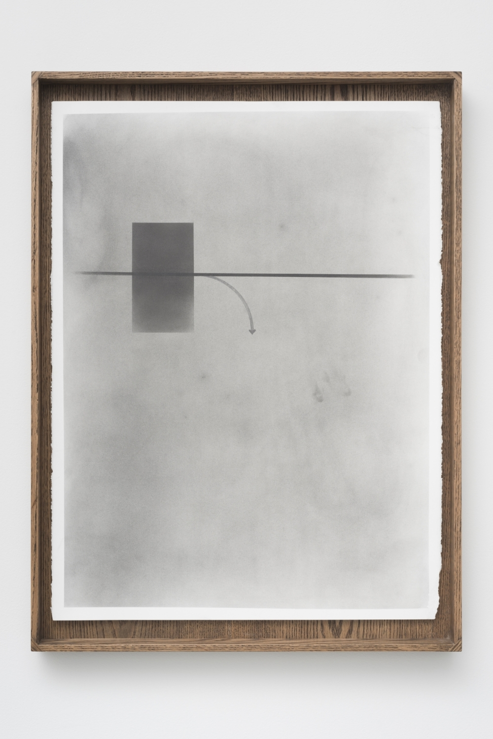 Untitled Diagram No. 14, from Diagrams with my Father, 2014 Graphite on paper in artist made oak frame, 83.82 x 60.96 x 6.35 cm, Image courtesy of the artist and Monique Meloche Gallery, Chicago