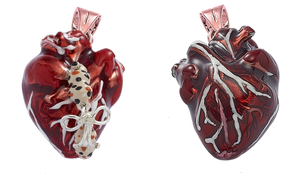 Still life collection, heart pendant
