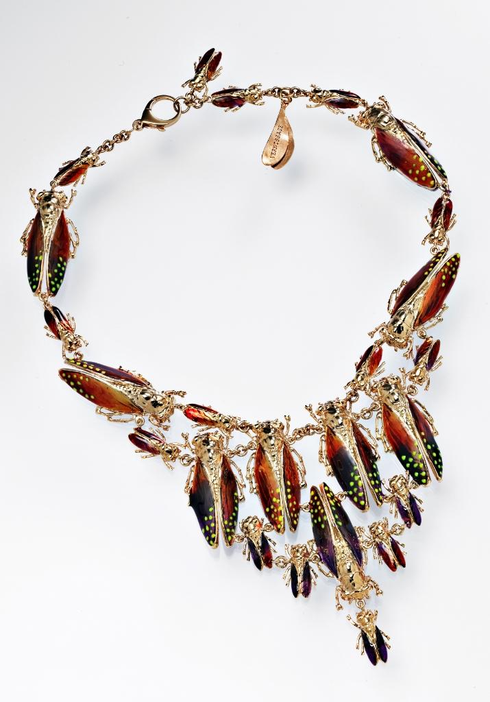 VERNISSAGE JEWELLERY art 65 imperial moths necklace 925 silver enamel lysergic colors.jpg