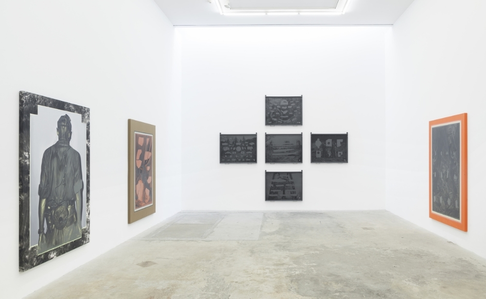 Exhibition view of Descent at Untitled Gallery, New York