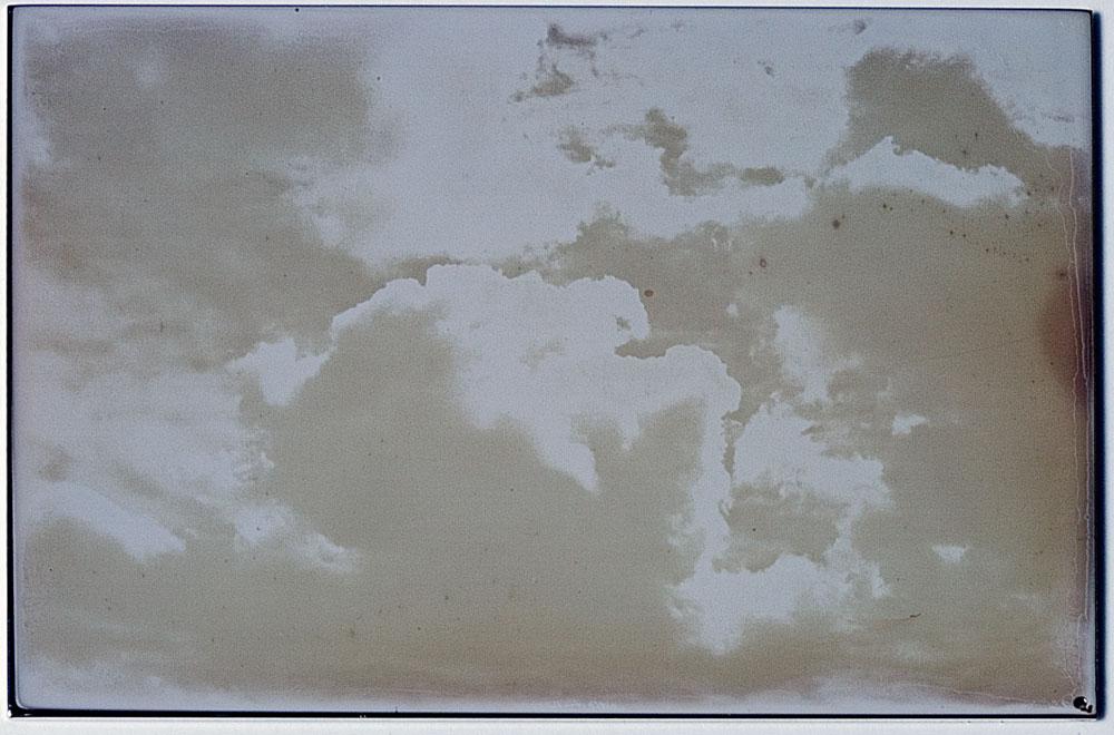 Evariste Richer, Nuages au iodure d'argent, 2005. 3 dagherrotipi, 6 x 9 cm ciascuno (Courtesy dell'artista)