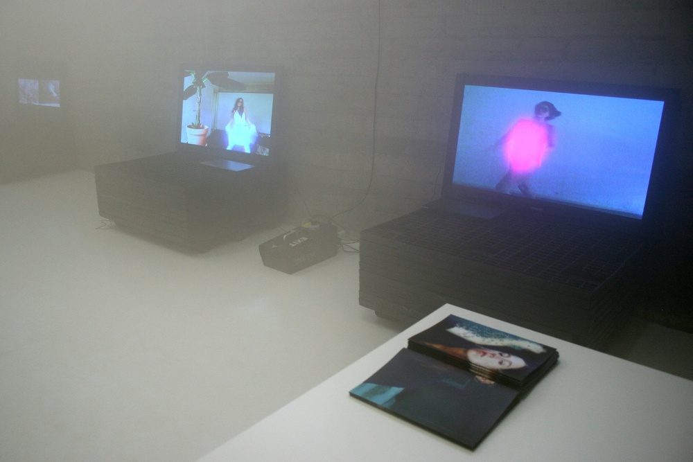 "Petra Cortright, ""It Takes Strength to Be Gentle and Kind"", 2010, Installation view."