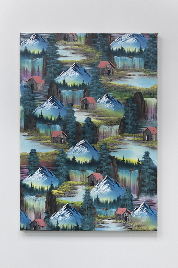 Cabin Falls (Lake Edit), 2016, oil and acrylic on canvas, 100 x 70cm