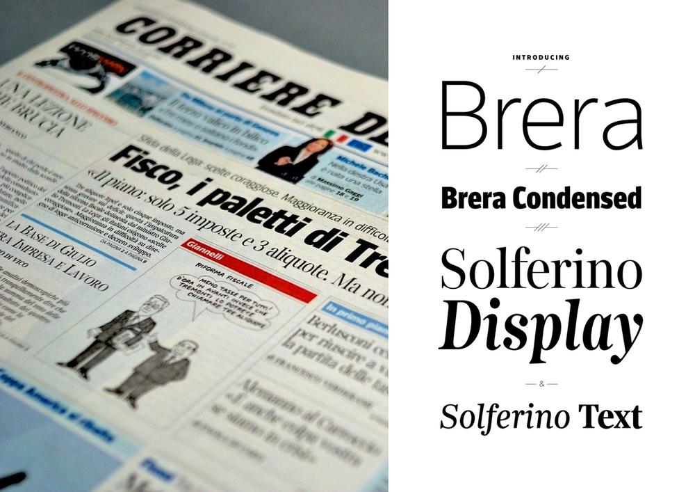 Corriere della Sera, type design