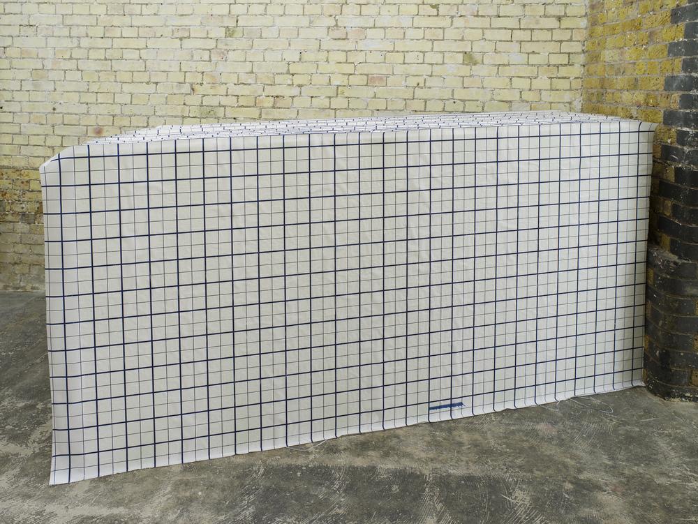 Lag 1, 2016 Floor Drawing Polystyrene insulation grid boad 120 x 105 x 240 cm
