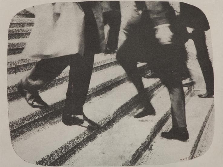 Mimmo Rotella,  Vieni e vai , 1965, mec-art su tela, Courtesy Frittelli arte contemporanea, Firenze