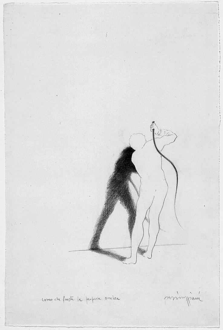 Claudio Parmiggiani,  Uomo che frusta la propria ombra , 1983. Galleria civica di Modena