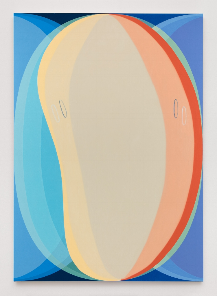 Vision, Indent, 2016, Oil on canvas, 96 x 68 inches, Courtesy Brennan & Griffin