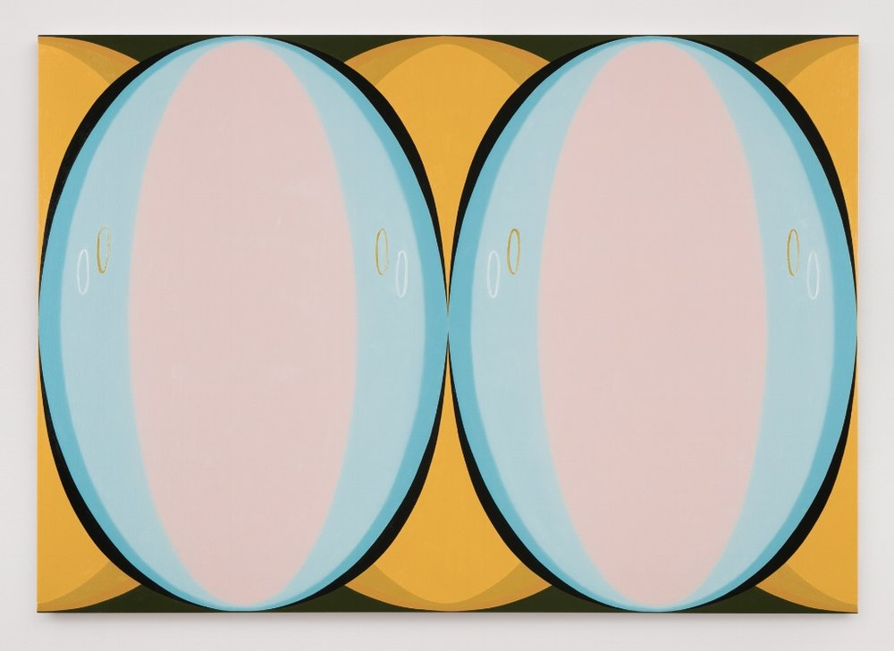 Twin Visions, Pink, 2016, Oil on canvas, 48 x 68 inches, Courtesy Brennan & Griffin