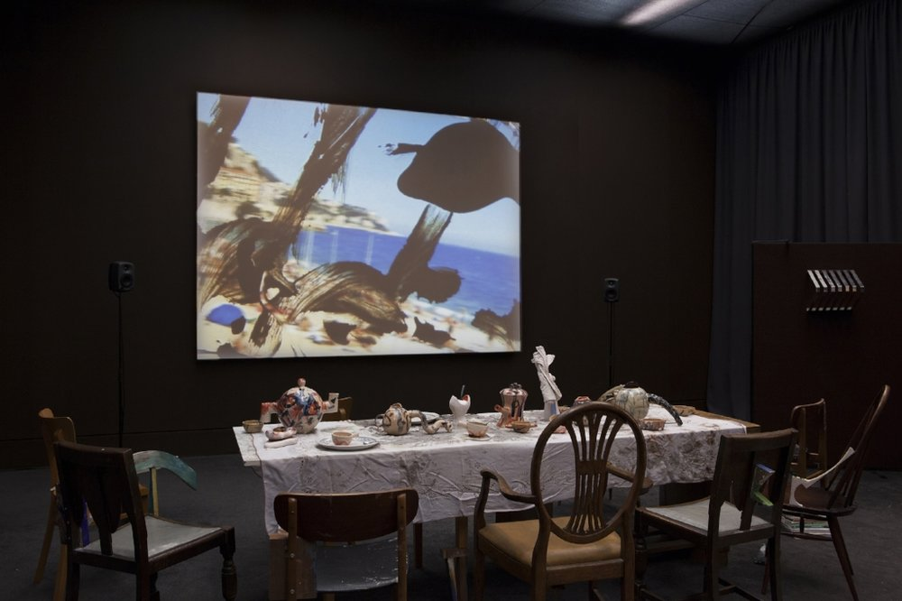 "Wantee , 2013, HD video and mixed media installation, Variable dimensions, installation view, ""Schwitters in Britain"", Tate Britain, London, Photo: Tate, Lucy Dawkins; Courtesy the artist and carlier 