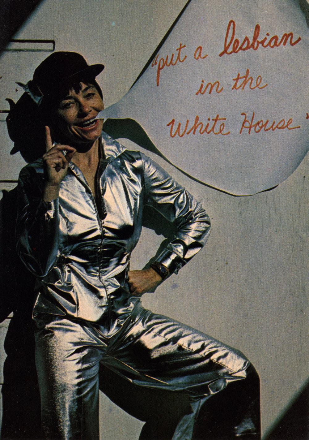 Barbara Hammer, Performance&Postcared,  Puta a Lesbian in the White House , 1979