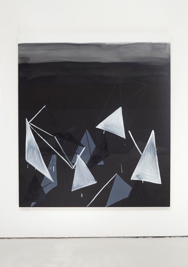 'Test Strip (geo-noir)', 2015, Acrylic and Oil on Canvas